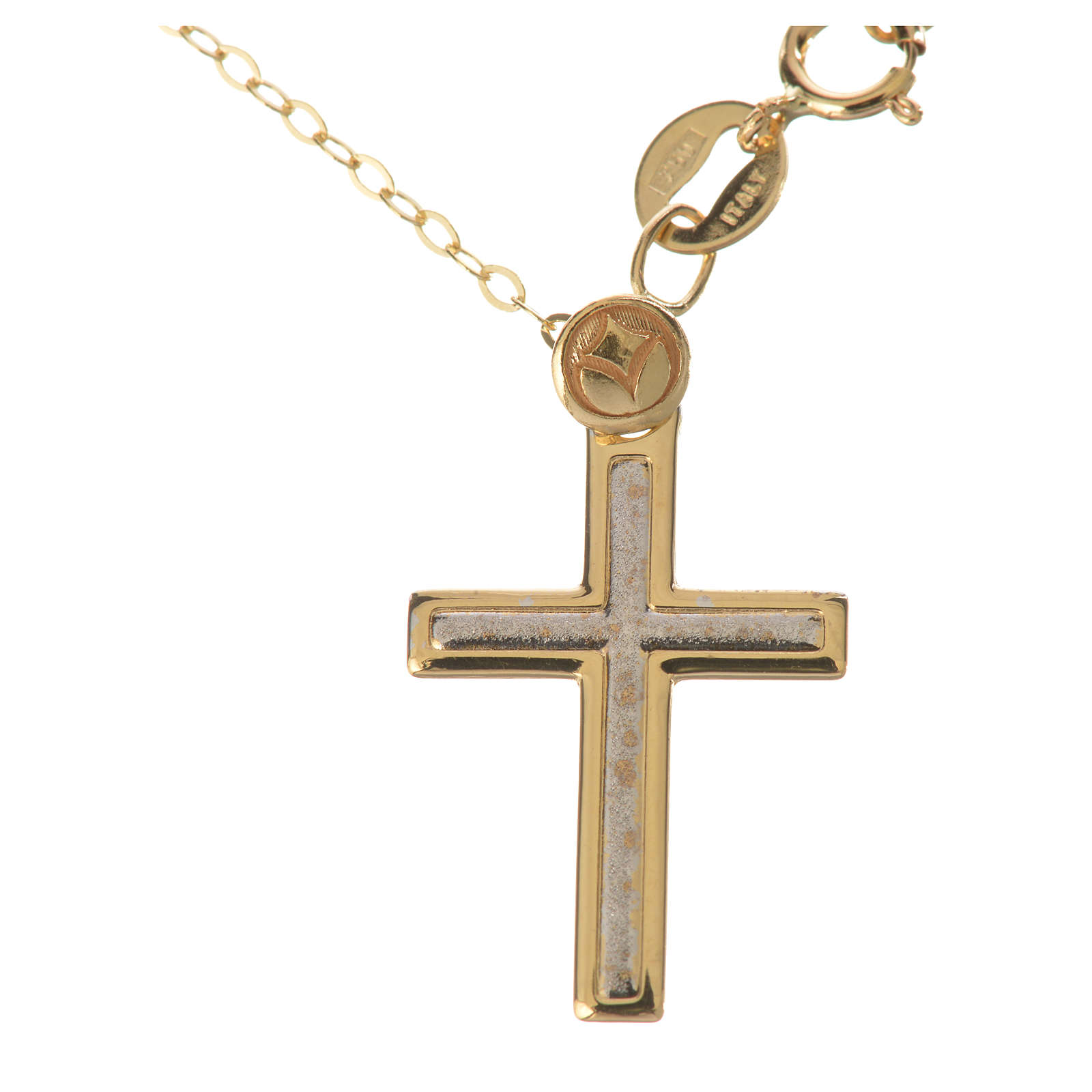 Necklace and cross pendant in 18k gold 1,74 grams 4