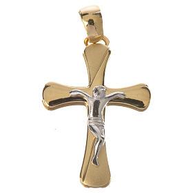 Crucifijo bicolor oro 750/00 - gr. 2,04 s1
