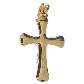 Crucifijo bicolor oro 750/00 - gr. 2,04 s2