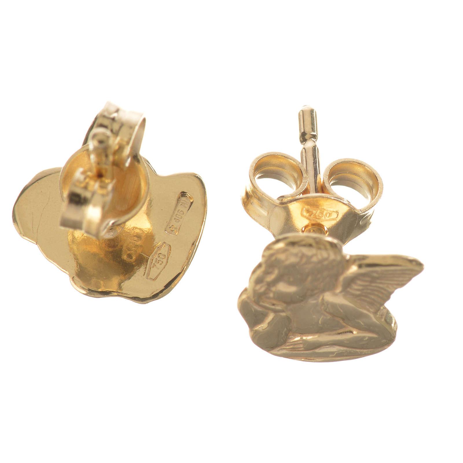 Angel earrings in 18k gold 1,36 grams 4
