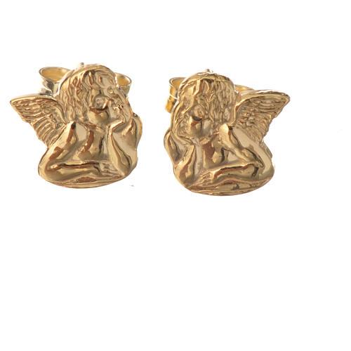 Angel earrings in 18k gold 1,36 grams 1