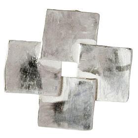 Cruz de plata de ley con 4 cuadrados s1
