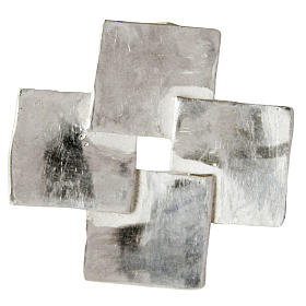 Silver cross pendant, four squares in sterling silver s1