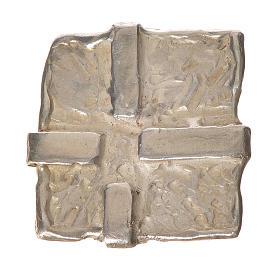 Croce arg. 925 Quadrata s1