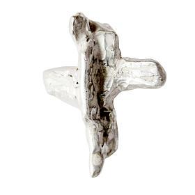 Silver cross pendant, wings in sterling silver s1