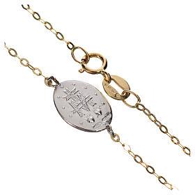 Bracciale medaglia oro 750/00 - gr. 1,42 s2