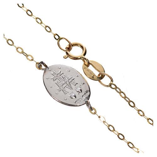 Bracciale medaglia oro 750/00 - gr. 1,42 2