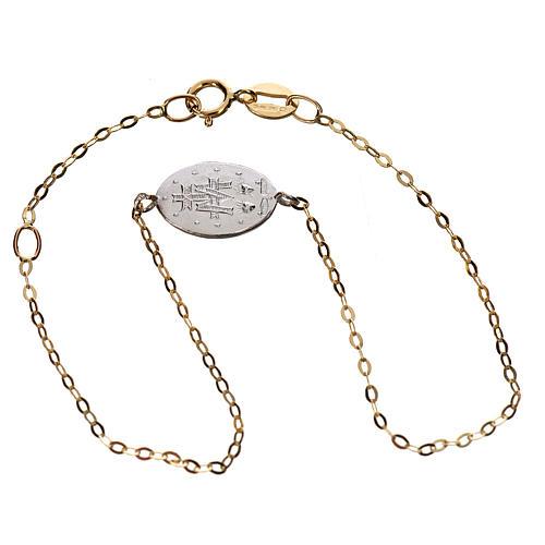 Bracciale medaglia oro 750/00 - gr. 1,42 3