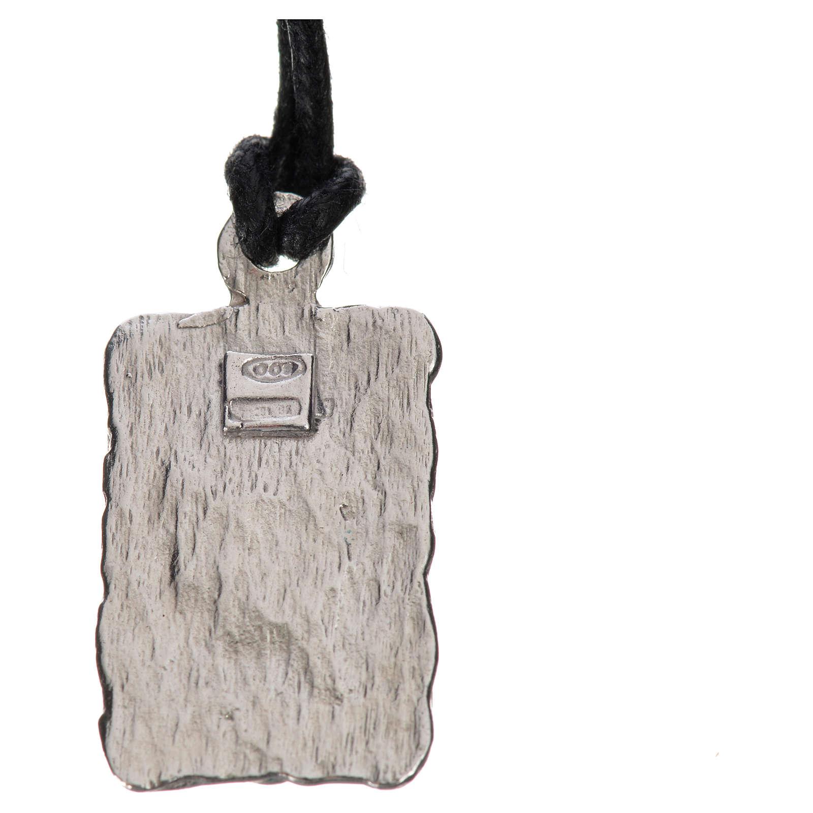 Medalla de Lourdes en plata 800, bicolor 4