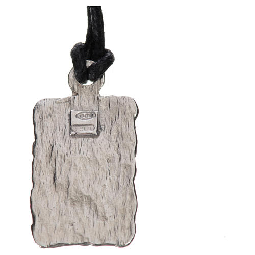 Medalla de Lourdes en plata 800, bicolor 2