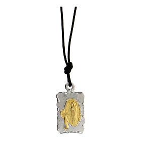 Medaglia di Lourdes Argento 800 bicolore