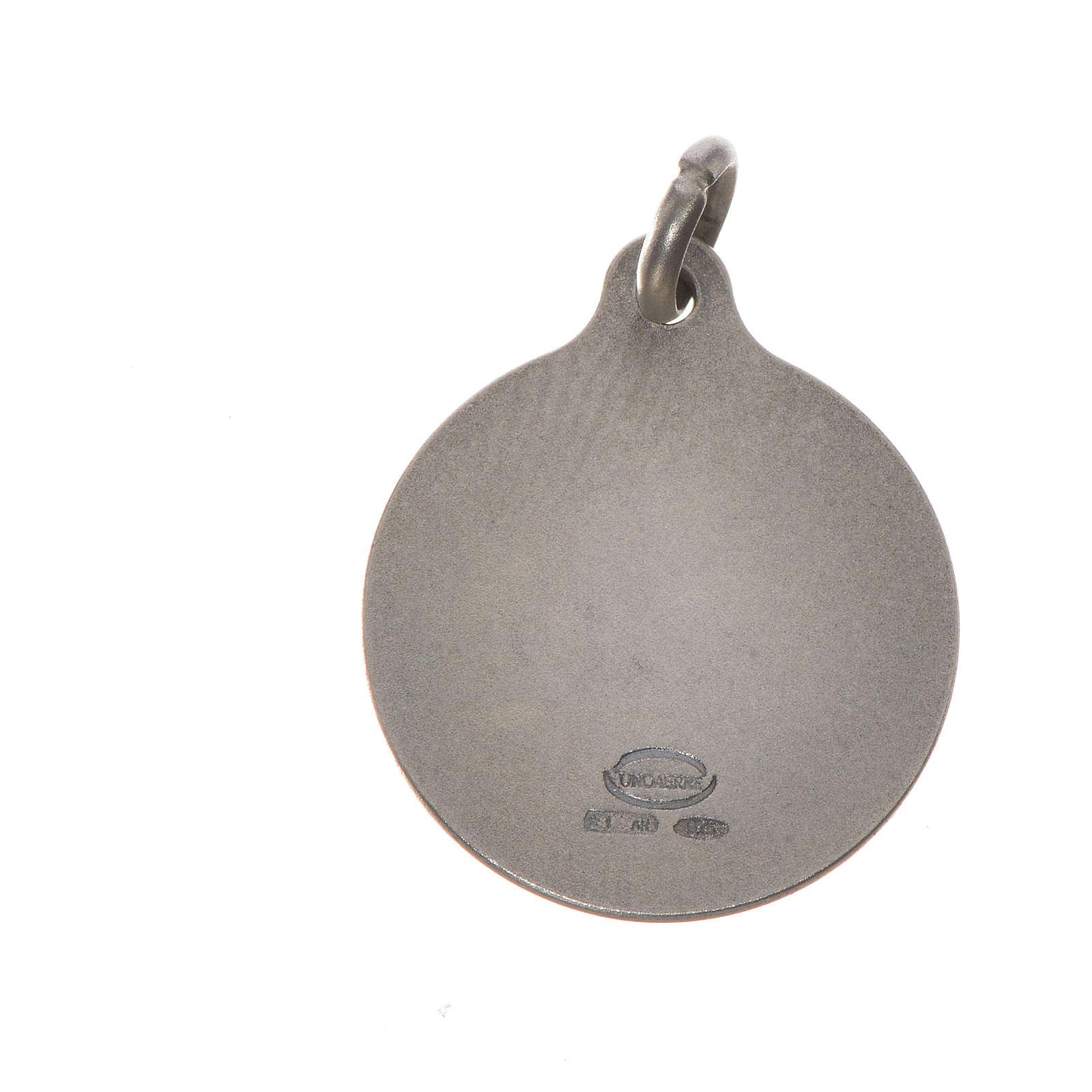 Medaglia Papa Francesco 16 mm argento 800 4