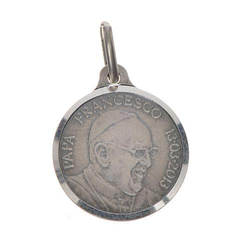 Medaglia Papa Francesco 16 mm argento 800 1