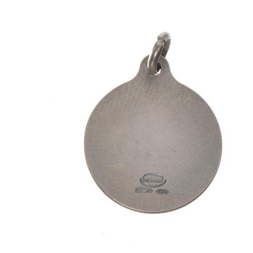 Medaglia Papa Francesco 16 mm argento 800 2