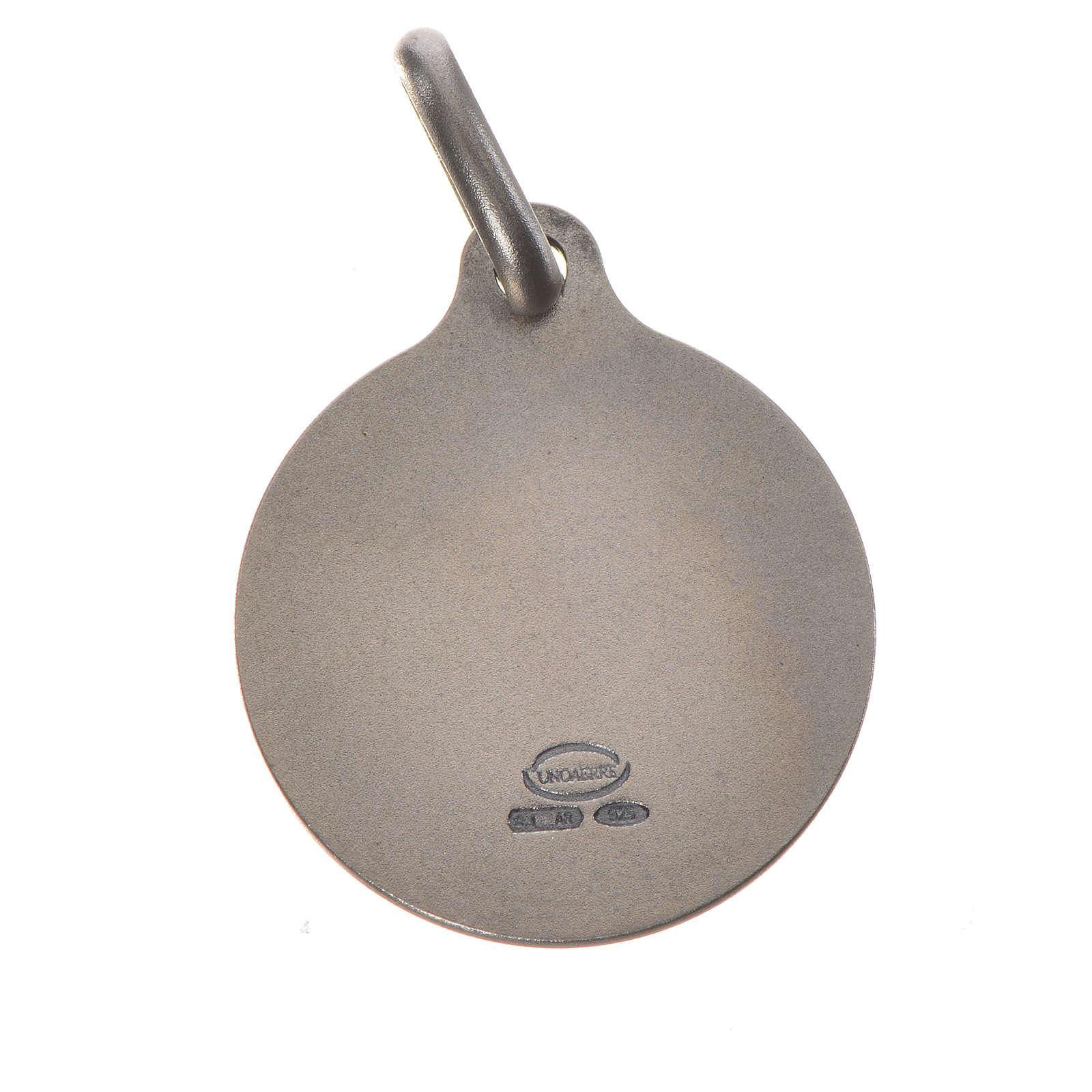 Medalla de Papa Francisco en plata 800, 18mm 4