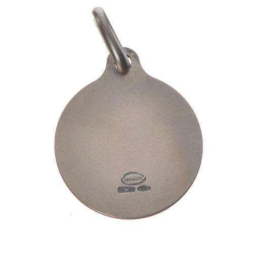 Medalla de Papa Francisco en plata 800, 18mm 2