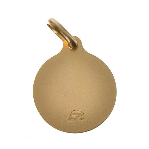 Medaglia Papa Francesco argento 800 dorato - 18mm 2