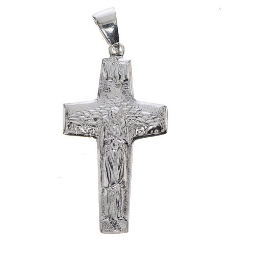 Pope Francis, Good Shepherd cross 925 silver 1