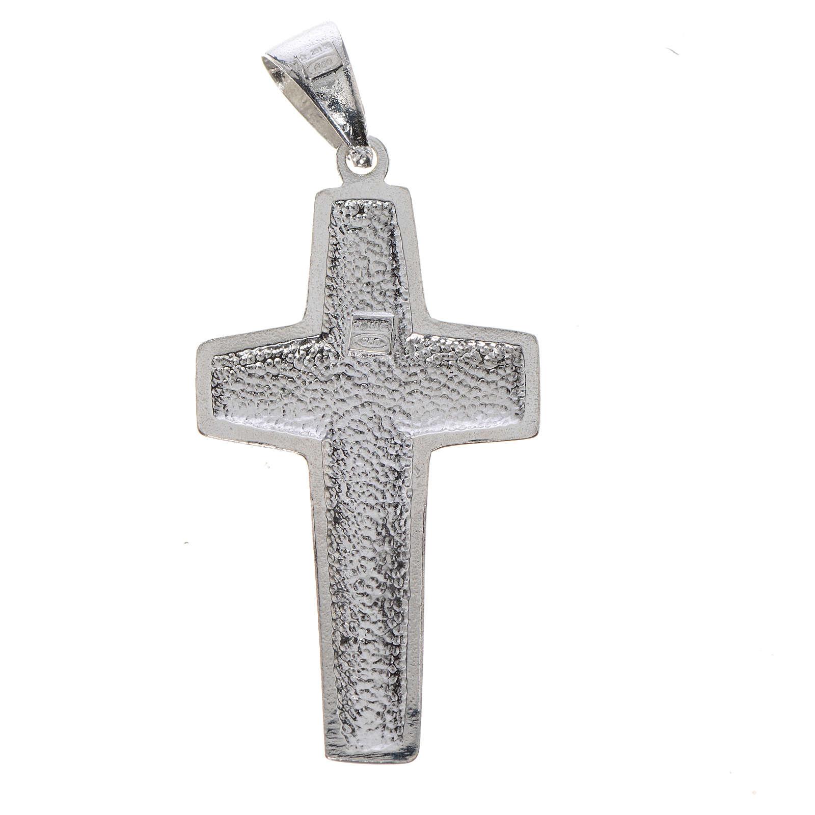 Cruz de Papa Francisco, Buen Pastor, en plata 925 4