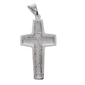 Cruz de Papa Francisco, Buen Pastor, en plata 800 s2