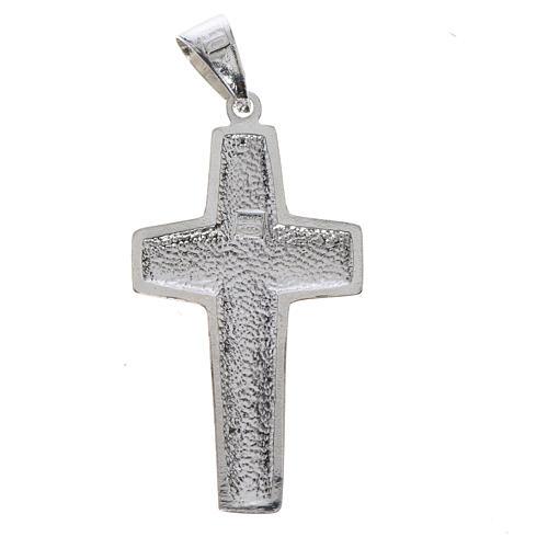 Cruz de Papa Francisco, Buen Pastor, en plata 800 2