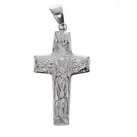 Croix Pape François Bon-Pasteur argent 925 s1