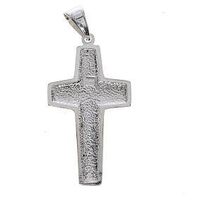 Croce Papa Francesco buon pastore argento 925 s2