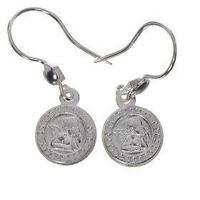 Pingentes, Cruzes, Broches, Correntes: Brincos Anjo da Guarda prata 925 acab. branco