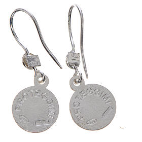 Guardian Angel earrings in 800 silver, light blue finish s2