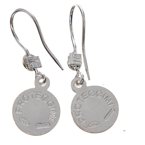 Guardian Angel earrings in 800 silver, light blue finish 2