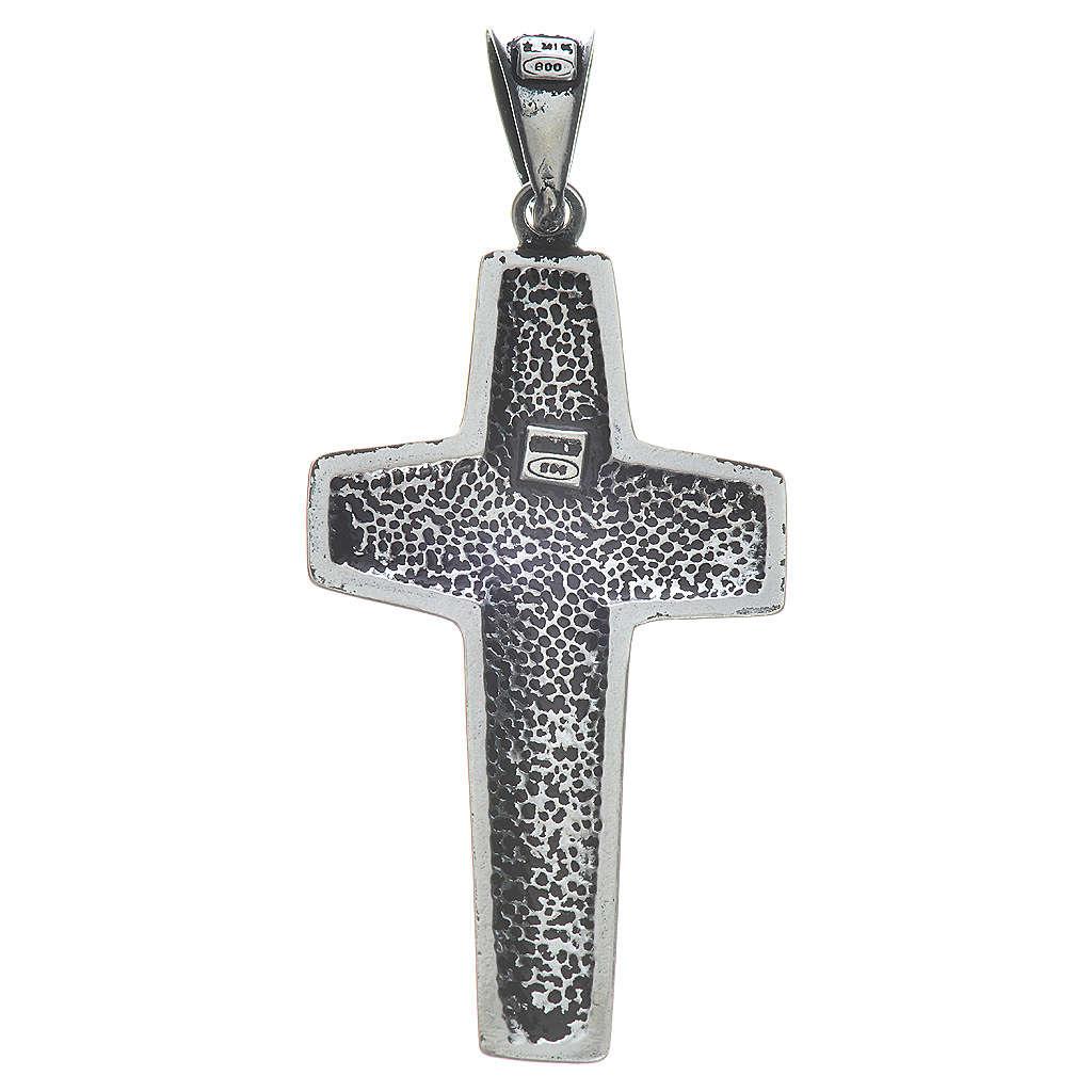 Kreuz Papst Franziskus Silber 925 4x2cm 4
