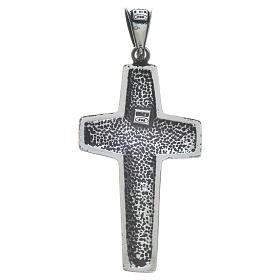 Kreuz Papst Franziskus Silber 925 4x2cm s5