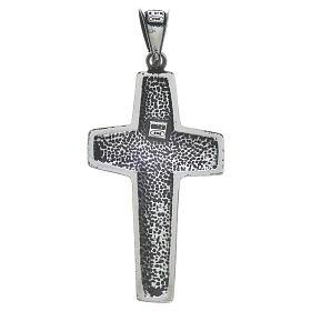 Kreuz Papst Franziskus Silber 925 4x2cm s2