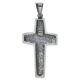 Cruz de Papa Francisco, 4x2cm, en plata 800 s5