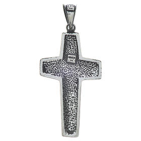 Cruz de Papa Francisco, 4x2cm, en plata 800 s2