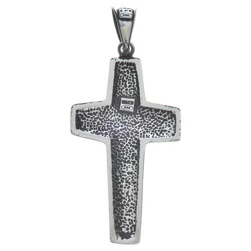 Cruz de Papa Francisco, 4x2cm, en plata 800 5