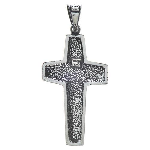 Cruz de Papa Francisco, 4x2cm, en plata 800 2
