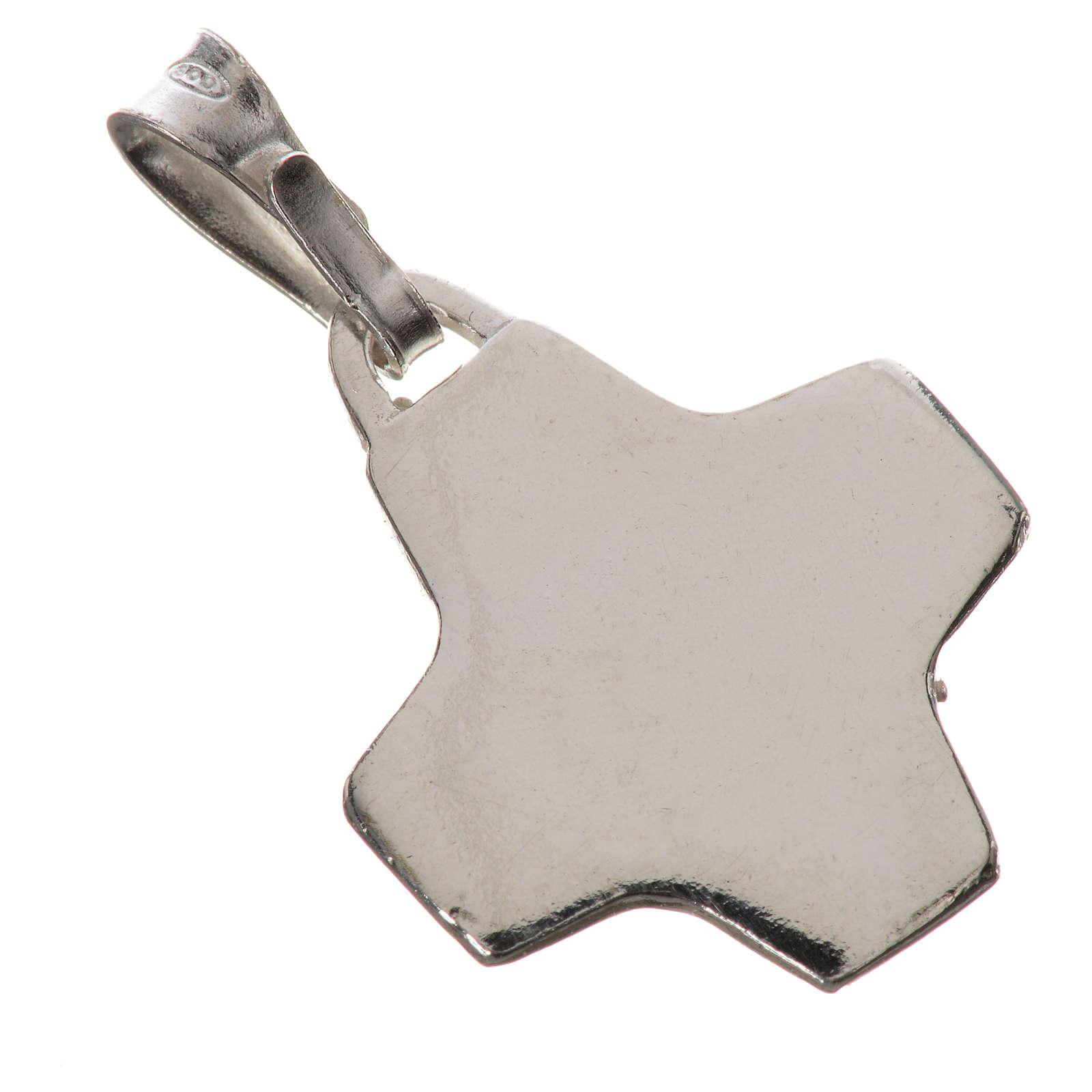 Pendente crocetta argento 800 4