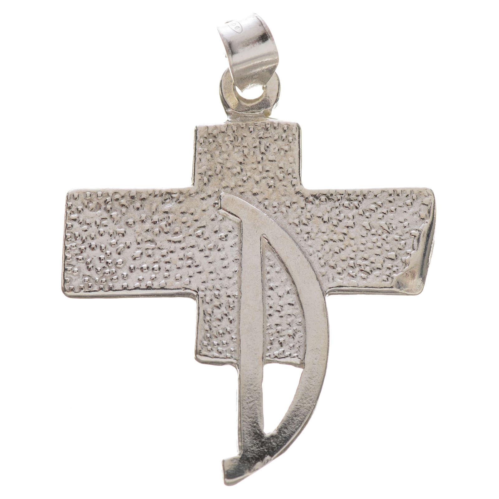 Pendente croce dei diaconi argento 800 4