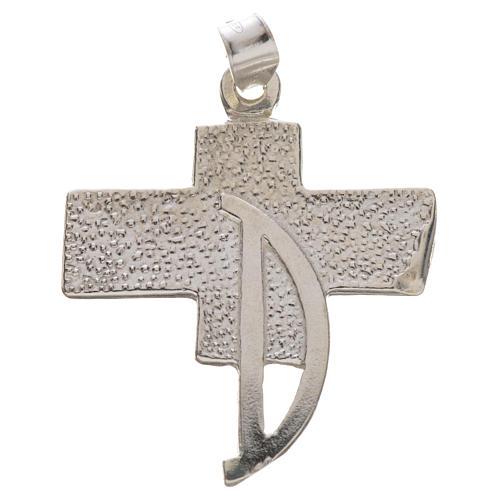 Pendente croce dei diaconi argento 800 1