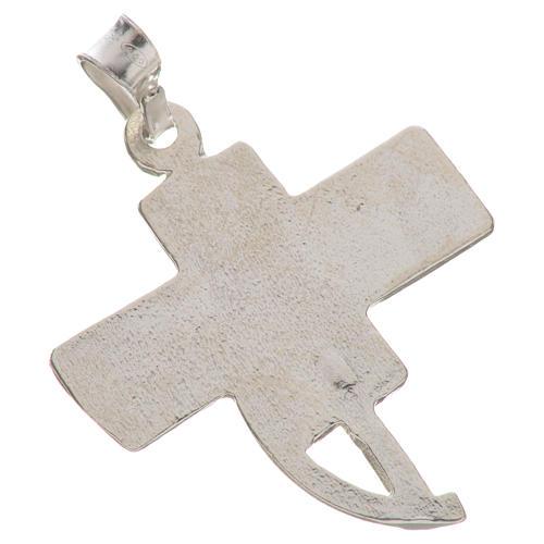 Pendente croce dei diaconi argento 800 2