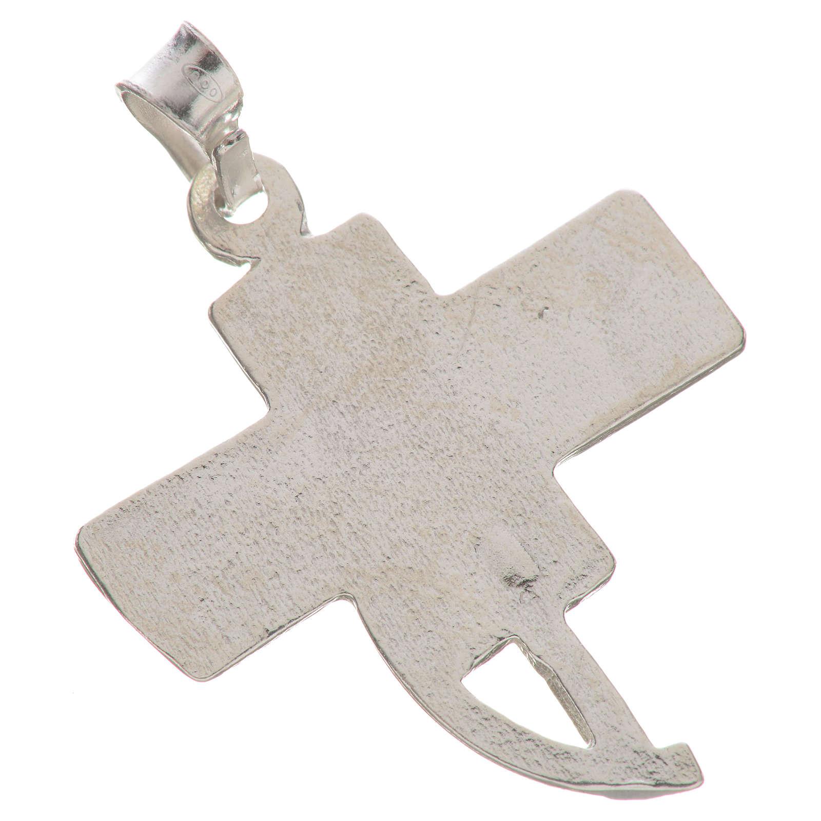 Pendant with deacon cross in 800 silver 4