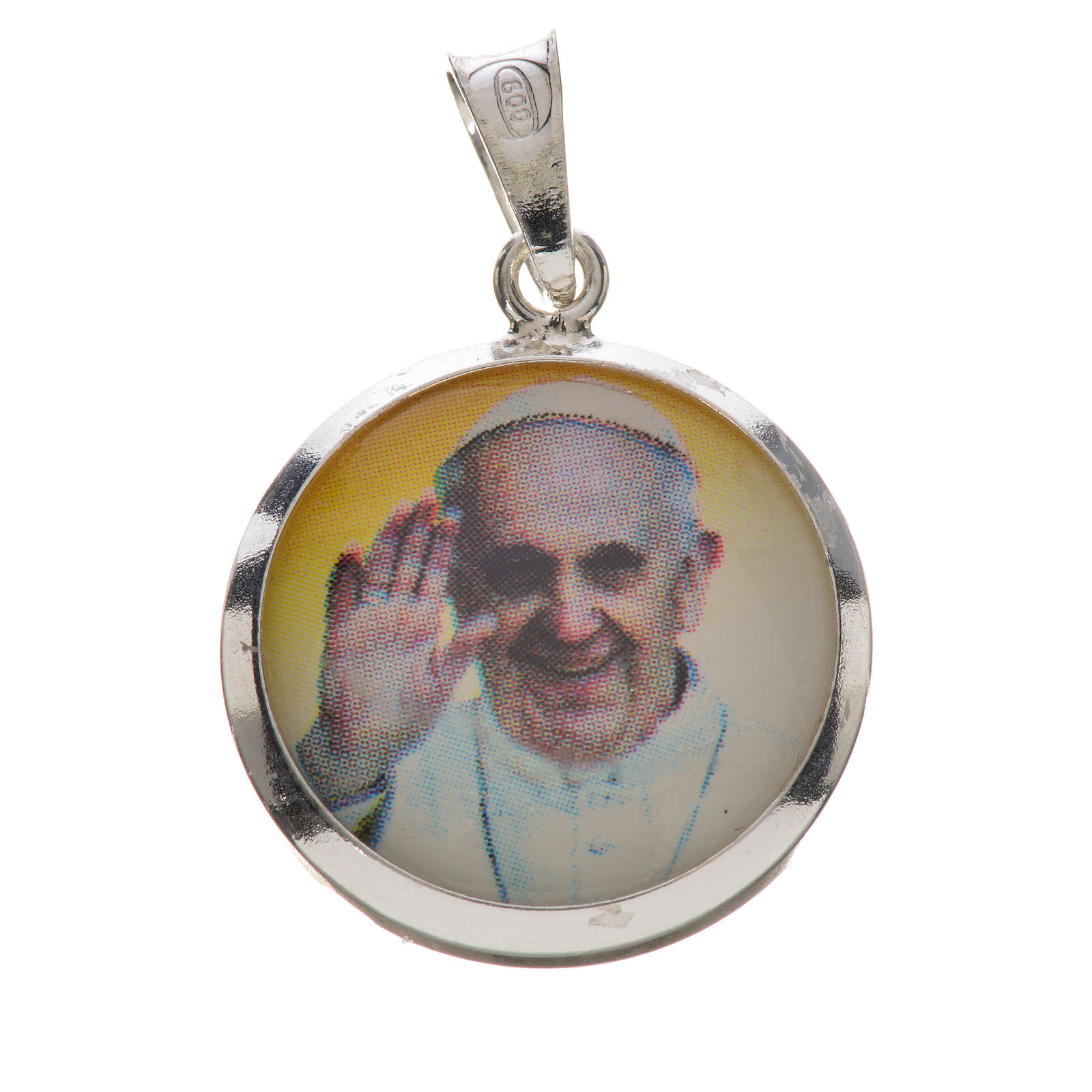 Medal with Pope Francis image in 800 silver 4