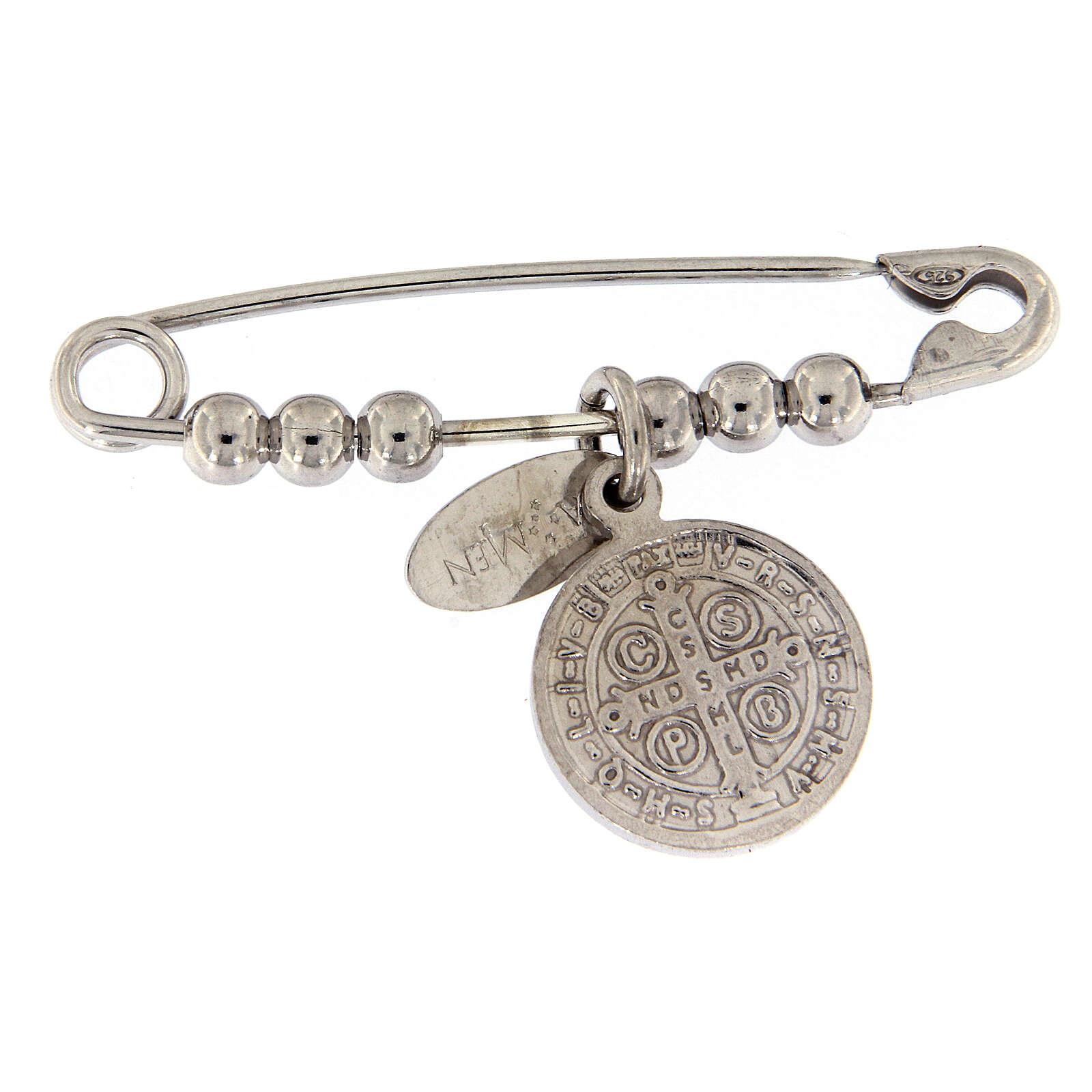 Imperdible AMEN con Medalla Milagrosa de plata de ley 4