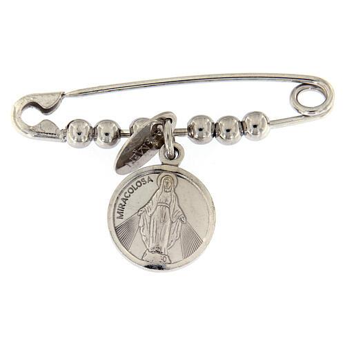 Imperdible AMEN con Medalla Milagrosa de plata de ley 1