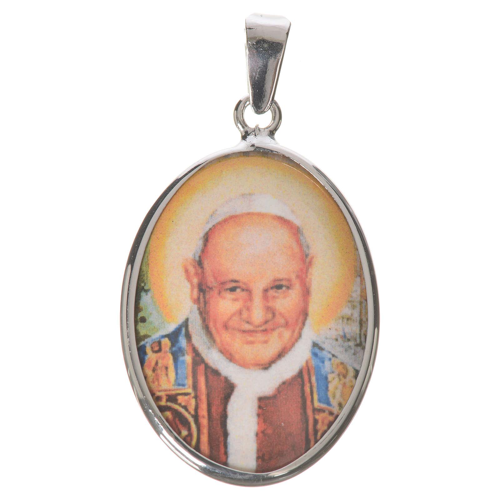 Médaille ovale argent 27mm Jean XXIII 4