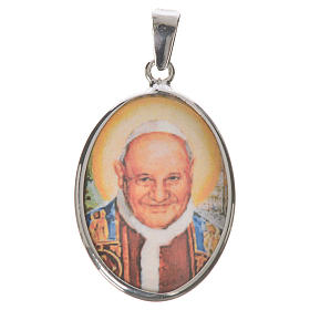 Médaille ovale argent 27mm Jean XXIII s1