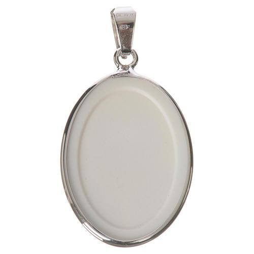 Medaglia ovale arg. 27 mm Giovanni XXIII 2