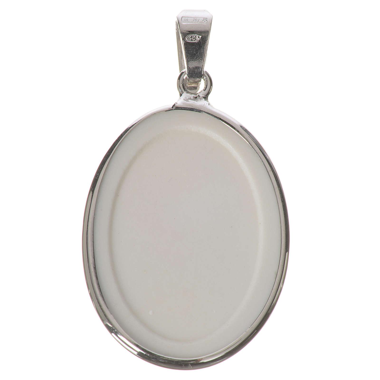 Médaille ovale argent 27mm Jean-Paul II 4