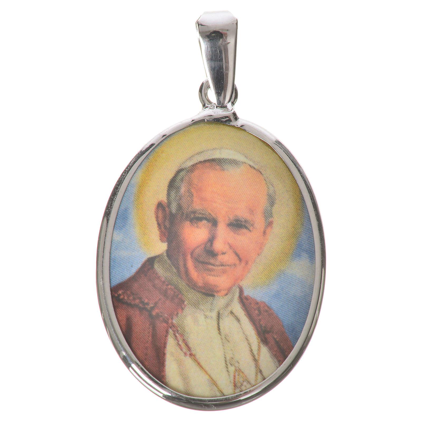 Oval medal in silver, 27mm John Paul II 4